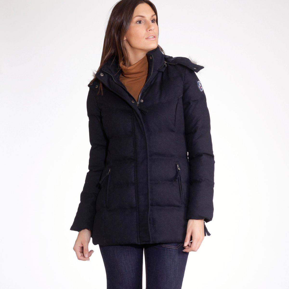 LEDU-2013 new hooded ladies ' detachable jacket GH621