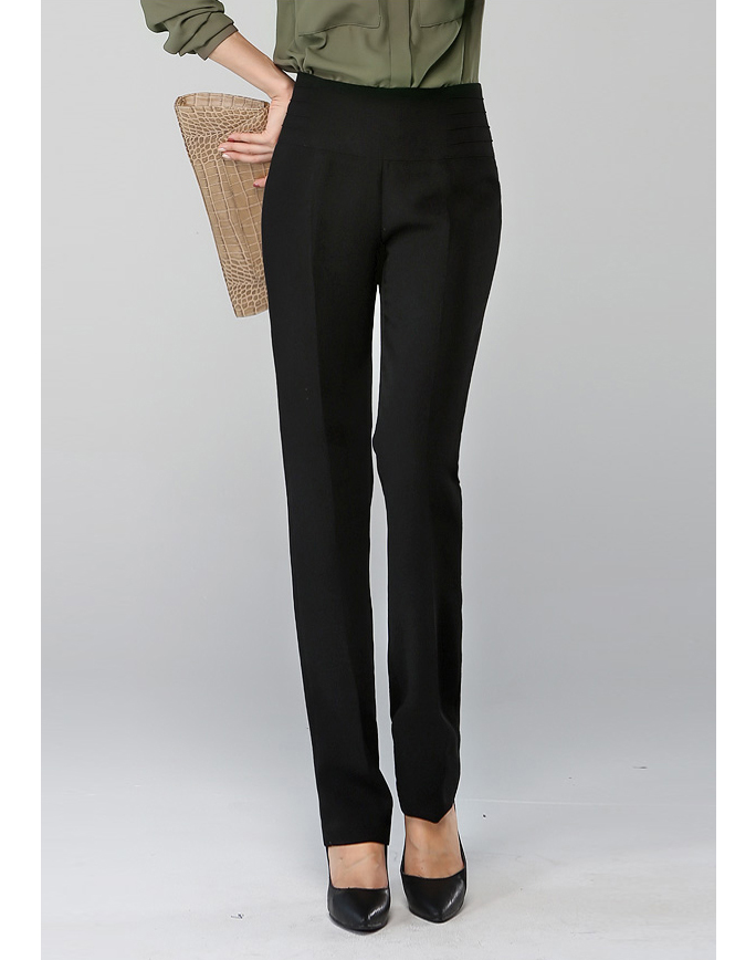 Классические брюки Korean homes have clothes 1308k 2013 Прямой Ретро Длинные брюки Высокая талия Шерсть Осень 2013 Молния