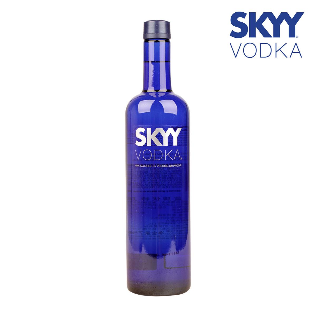 【一号酒窖】洋酒 美国进口skyy vodka蓝天伏特加 烈酒 原味750ML