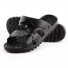 The new 2015 summer leisure peep-toe with men plastic han edition men's shoes is cool slippers sandals belle