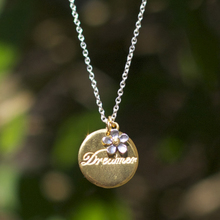 British rural Alex Monroe dreamer Small flower 22 k gold silver plated wafer necklace The spot