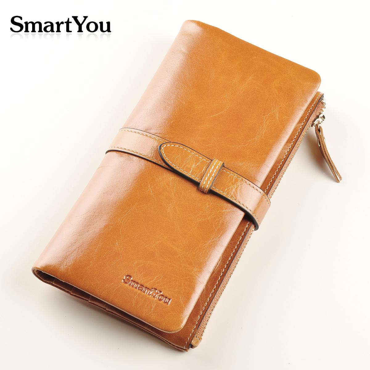 Бумажник Smartyou 8801 Длинный бумажник Девушки Кожа быка