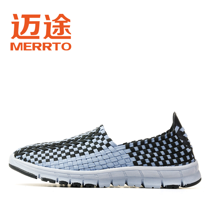Alternative summer outdoor breathable casual shoes new couple Korean trend female woven shoes men's shoes M18138
