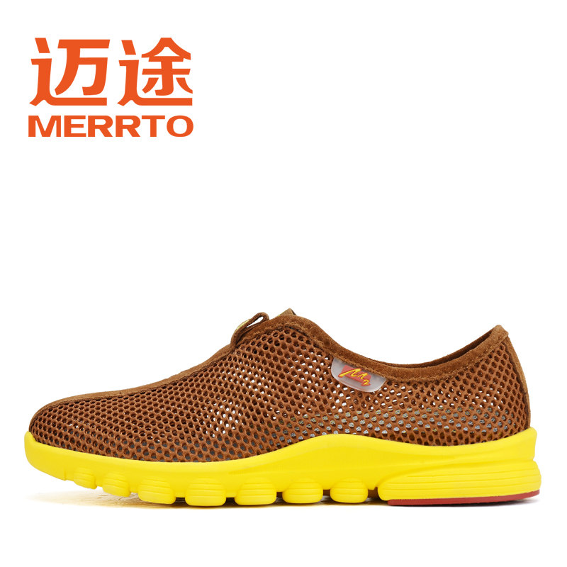 Pedestrian couple outdoor walking shoes pierced lightweight ultra breathable mesh walking shoes authentic men and women M18132