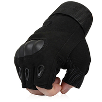 The special forces tactical gloves outdoor in summer many slip half gloves special warfare combat male black hawk