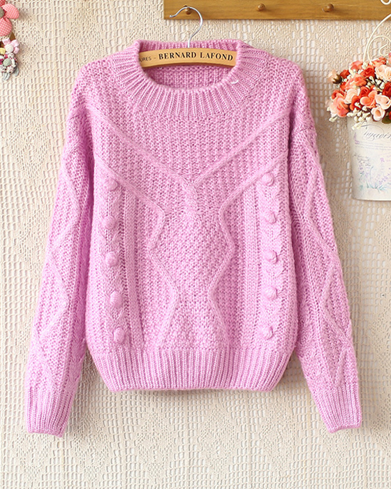 Свитер женский Осень/зима Специальная цена Новый корейский свежие конфеты цвет Джокер t тепло снизу длинные пуловер