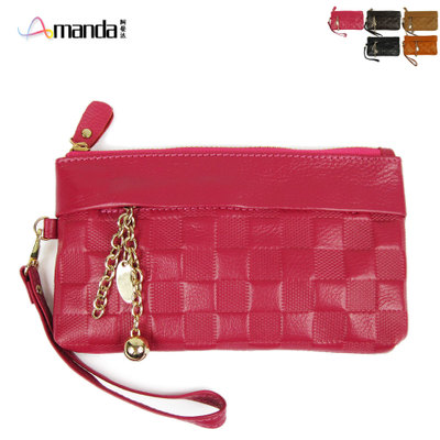 European and American big fashion tide Fanger embossed cowhide purse small hand bag ladies leather clutch
