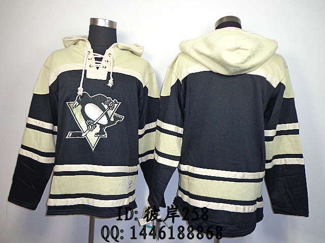 Одежда для занятий хоккеем Reebok 87 # Pittsburgh Penguins Blank Black 2014Hoodie NHL