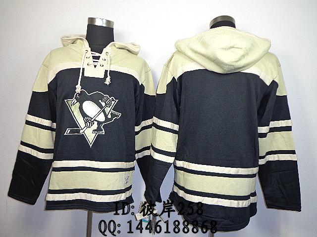 Одежда для занятий хоккеем Reebok 87 # Pittsburgh Penguins Blank Black 2014Hoodie NHL