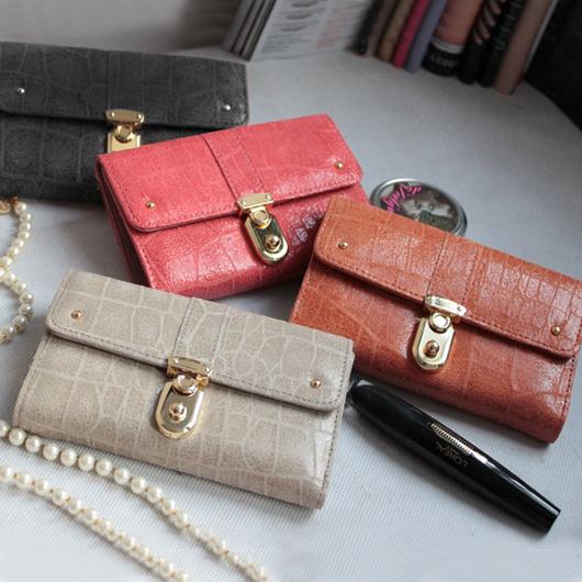 Бумажник Корейская версия ретро конфеты цветные портмоне кожа женская рука сумка «Taobao Распродажа» Длинный бумажник Девушки Кожа быка