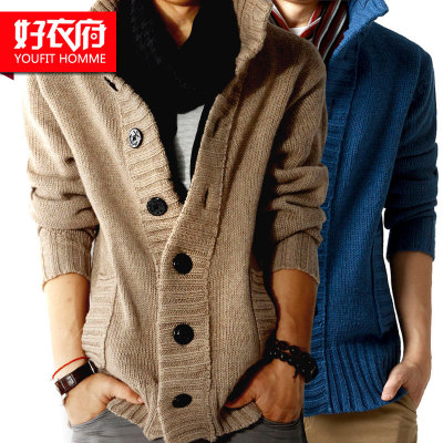 Good clothing House cardigan sweater men sweater coat tide Korean men's sweater men's winter sweater