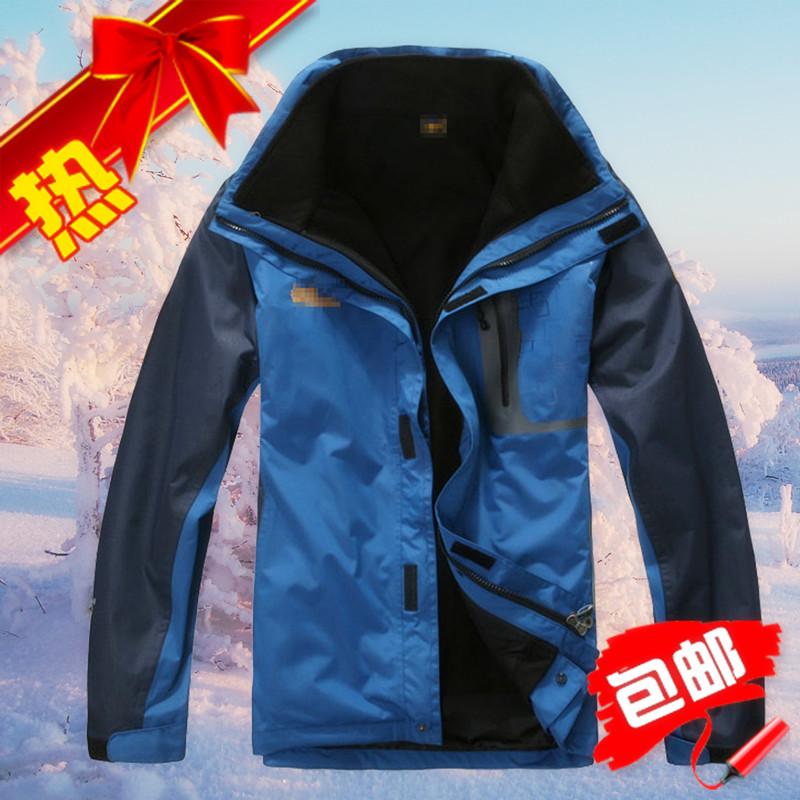 куртка Пакет двухсекционный кашемир теплой Анд человек утолщенной XL открытый кольчуга три в одном