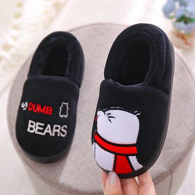 一家三口亲子儿童棉拖鞋秋冬宝宝卡通包跟防滑保暖男女童小孩棉鞋
