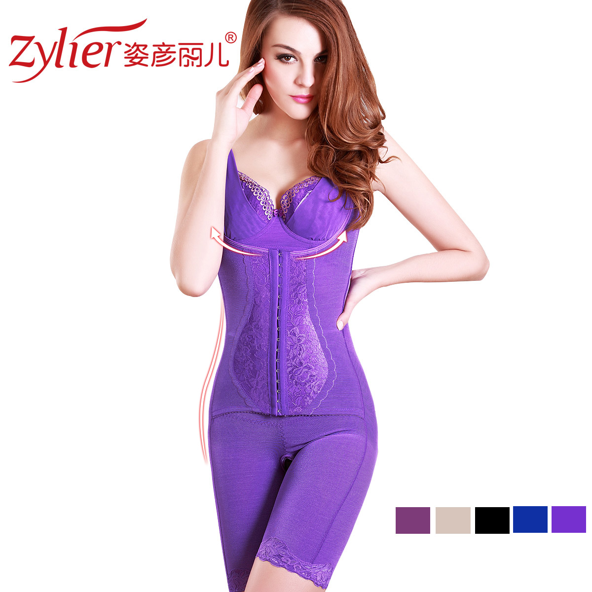 Queen attitude Yanli fiber thin stomach hip shaping garments Siamese beauty body clothes Shushen clothing lt108