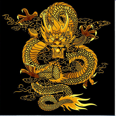 Cheap shipping diy digital painting landscape living room decorative painting sharply Hyun dancing Chinese dragon 60 * 60