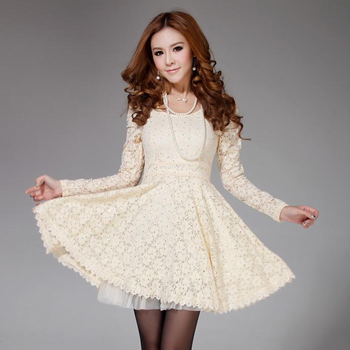 Женское платье 6965 2013 Осень 2013 Кружево