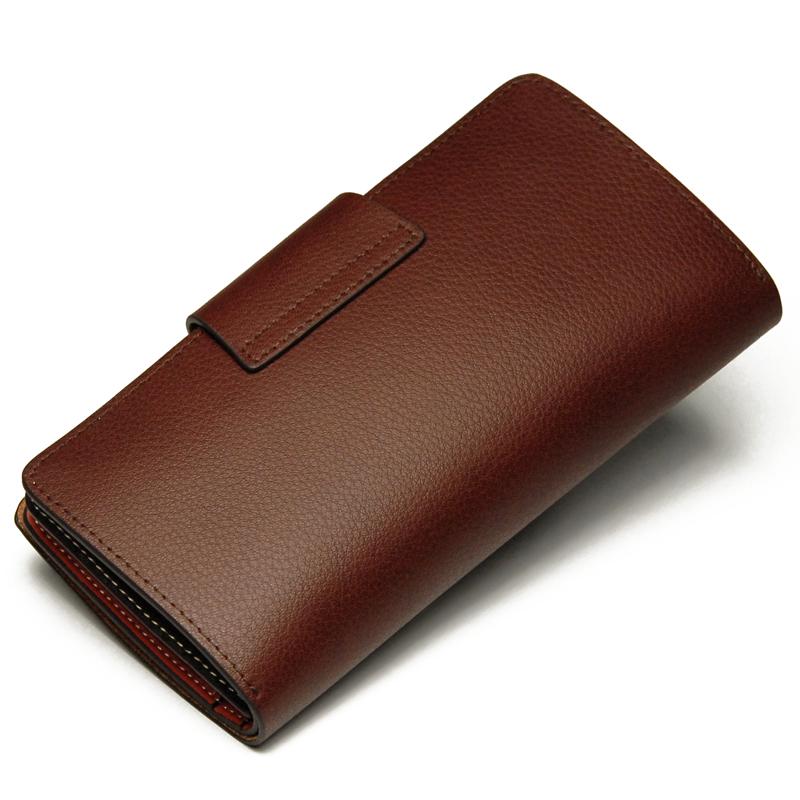 Бумажник Lu Biya 1061/1 2012 Длинный бумажник Для молодых мужчин Кожа быка