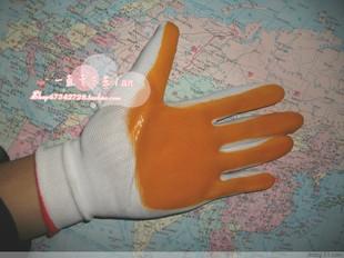 尼龙PVC手套/PVC牛筋手套/浸胶手套 挂胶手套 带胶手套 12付/打