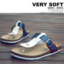 New summer male and female couple models Edison Birkenstock cork shoes tide slippers sandals flip flops beach
