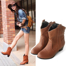 In the spring and autumn winter new Europe and the United States to restore ancient ways British naked boots pointed knight with short boots boots in the big yards for women's shoes women's boots