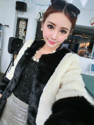 European style fur shawl ladies coat Korean style star