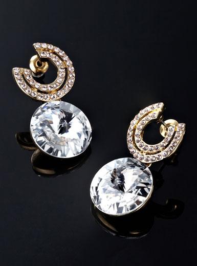 梦芭莎2012新款 奢华金钻荧彩卫星石耳钉078012218