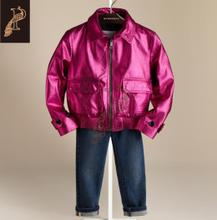 Burberry Burberry new children's clothing / leather metallic leather girls 4-14 years old 38682031