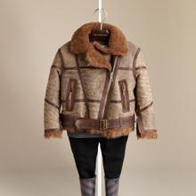 Hong Kong Shopping Burberry Burberry daughter new winter clothing / warm leather jacket 38224411