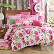 【定版枕套】纯棉加厚四件套全棉床上用品磨毛四件套1.8m2.0m床品