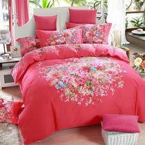 【大版花】磨毛四件套全棉加厚婚庆床品纯棉套件2.0床上用品1.8m