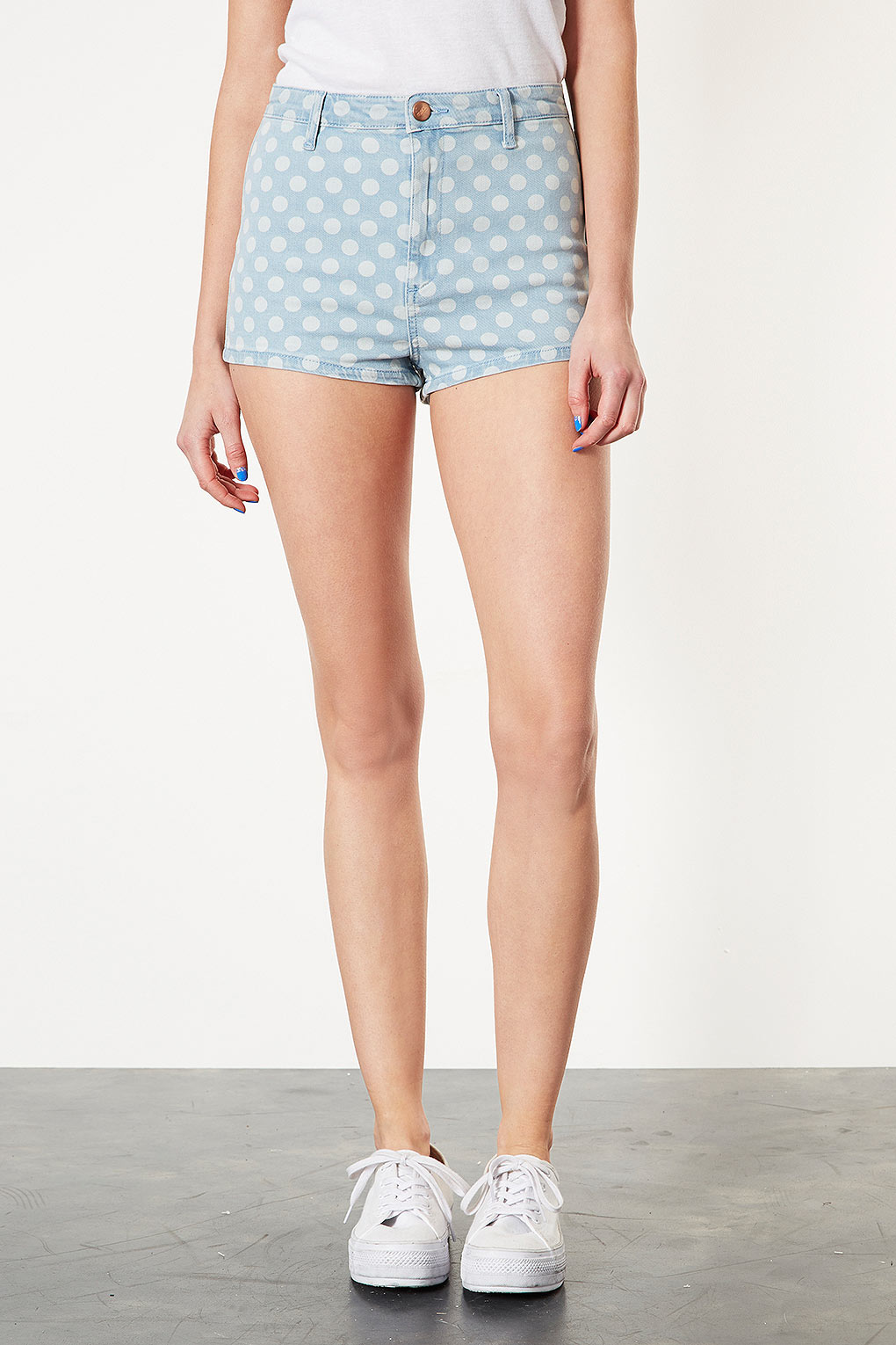Леггинсы ENVVVY Topshop MOTO BLEACH SPOT DENIM HOTPANTS