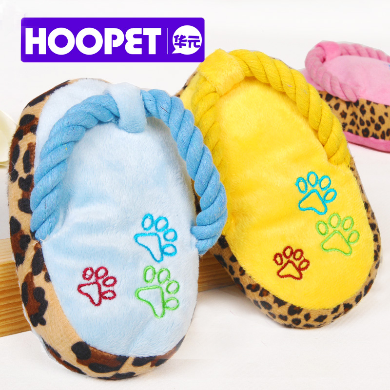 Short Plush Slippers with sound cotton rope pet toys, dog toys, cat toys pet supplies toys b