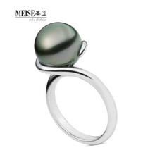 Ms MEISE authentic jewelry custom 18 k white gold ring Natural pearls are round ring fashion model