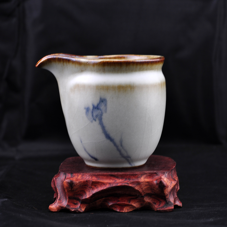 Кувшин для чая «Древние» Ма застекленные штук, все рисованной чай Кубок Po Ze/микро трава руды, синего и Белого моря Фарфор Ручное окрашивание