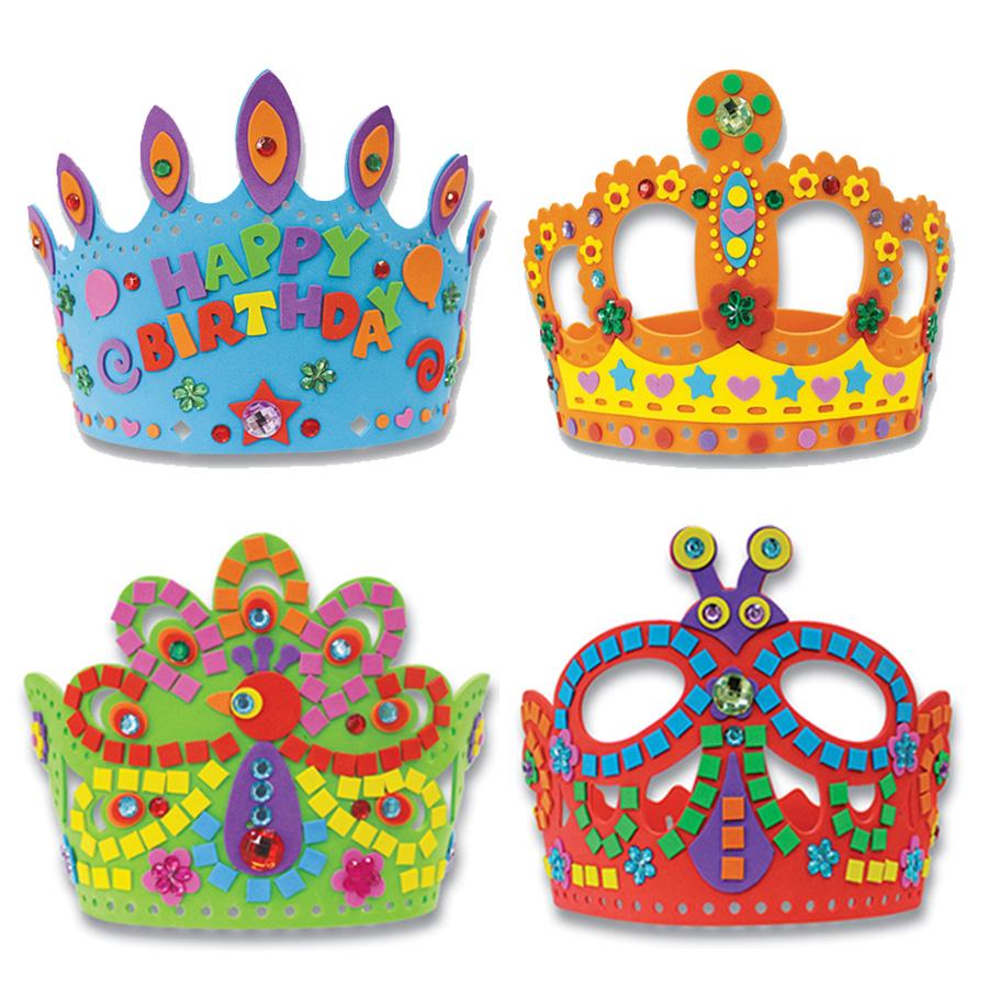 丑小丫eva卡通水晶皇冠纸幼儿园diy手工制作玩具立体益智特价包邮