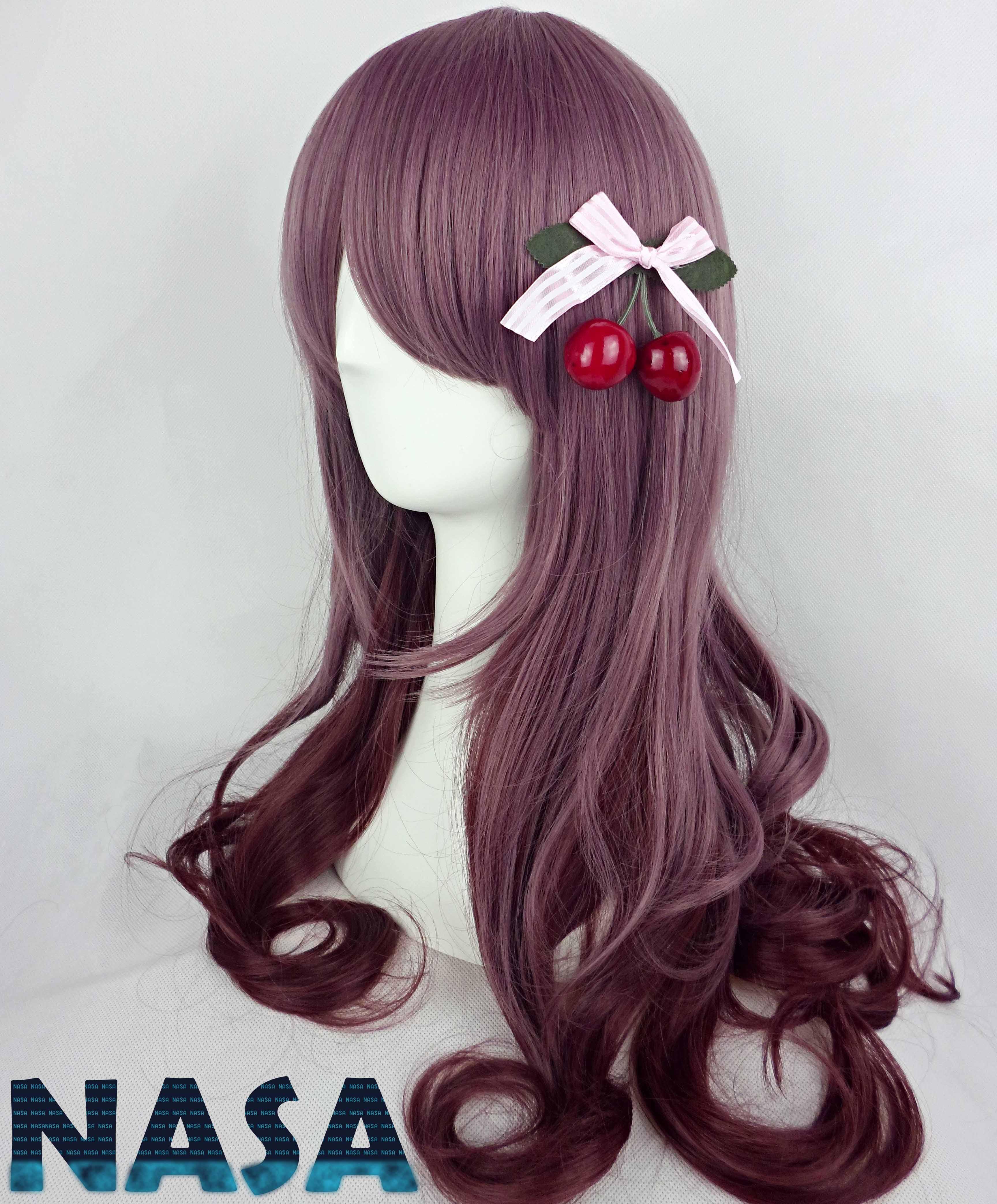 Аксессуары для косплея Фиолетовый парик Harajuku 3-цвет НАСА и Таро торт ролл естественный градиент COS ежедневно импортированные высокотемпературных проводов двойного использования