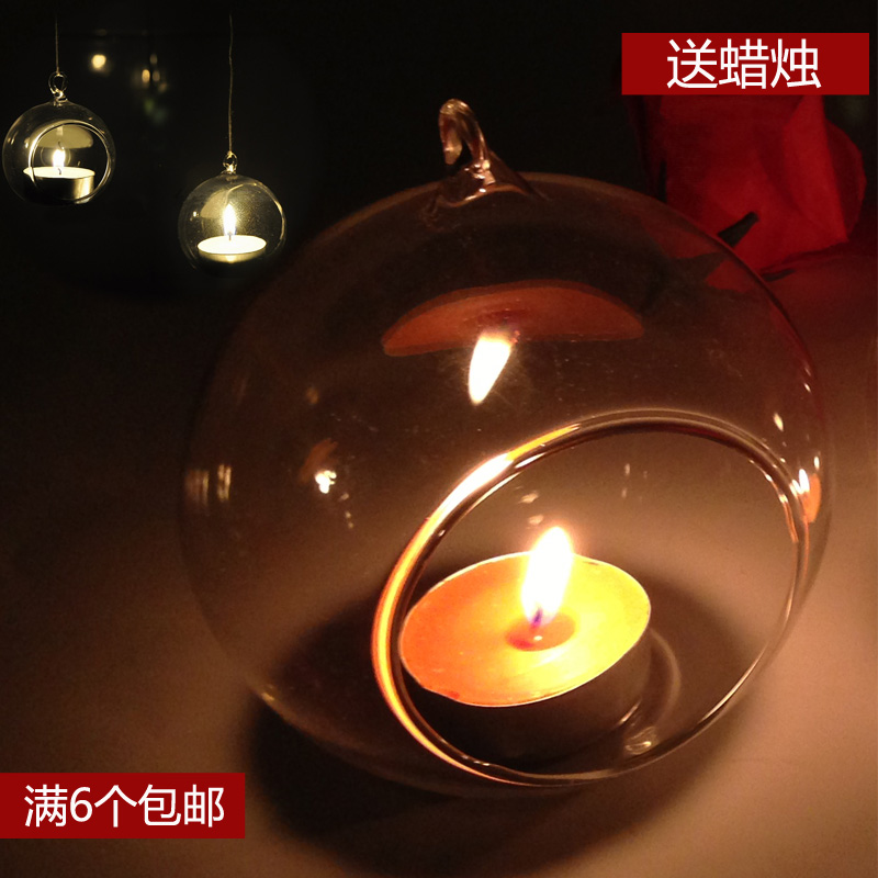Christmas creative romantic candlelight dinner IKEA aromatherapy candle cups /Taiwan hanging candle glass candlestick