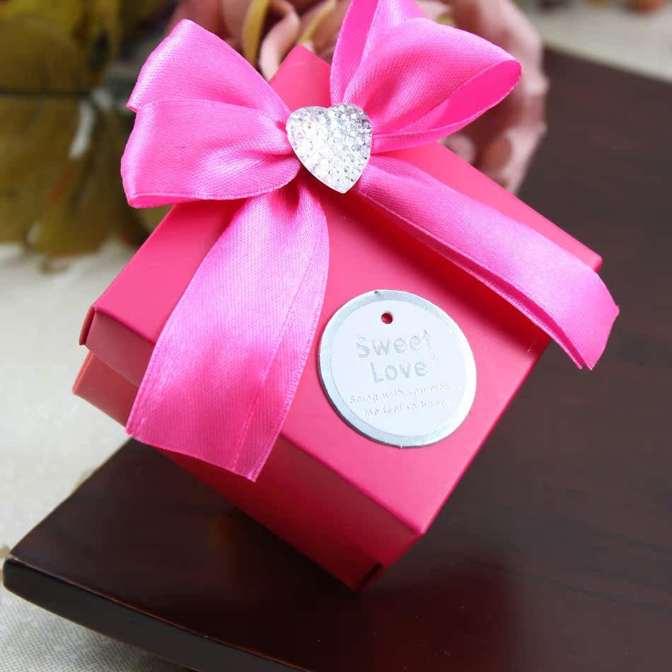 唯一婚品 喜糖盒 结婚婚礼糖果盒婚庆用品 欧式喜糖盒子创意红色