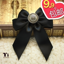 Pure handmade Japanese Korean retro court style corsage handmade DIY bow brooch pins Korean jewelry b06