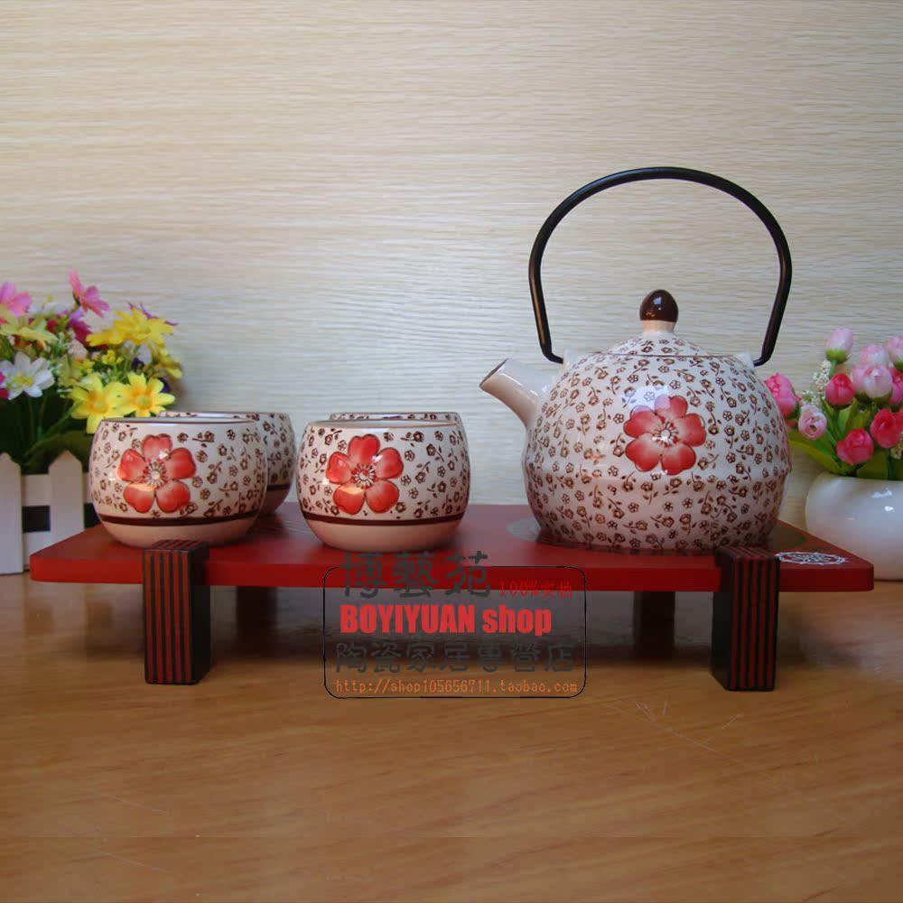 Набор для чайной церемонии Японский стиль кунг-фу чай и ветер керамический красный Специальный пост свадьба Корейский творческий свадебный подарок Из керамики Цветная глазурь