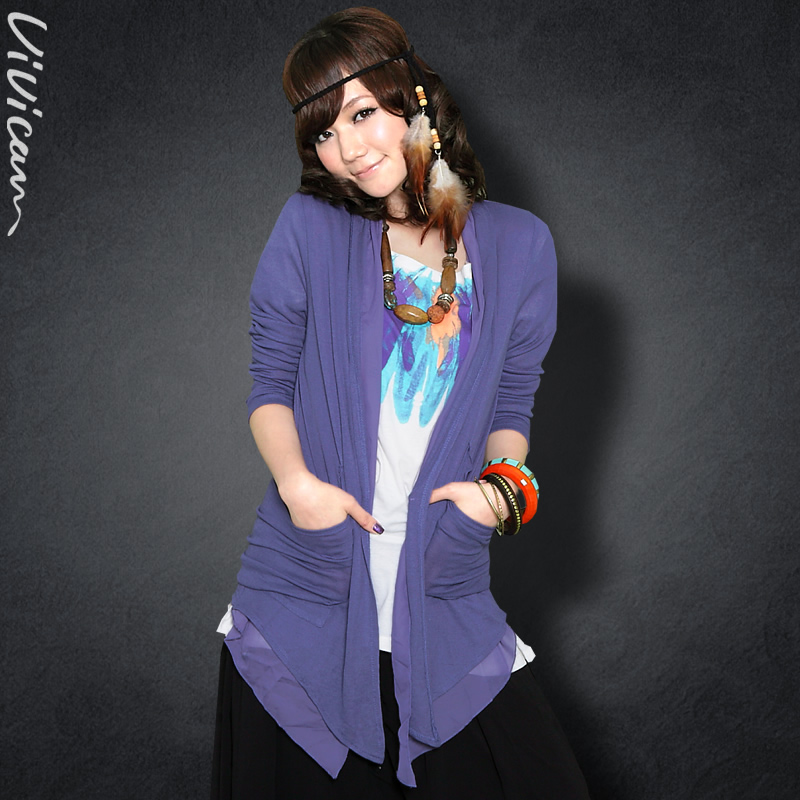 Vera 2013 spring new snow spinning knitting stitch skinny Cardigan for ladies 117,002