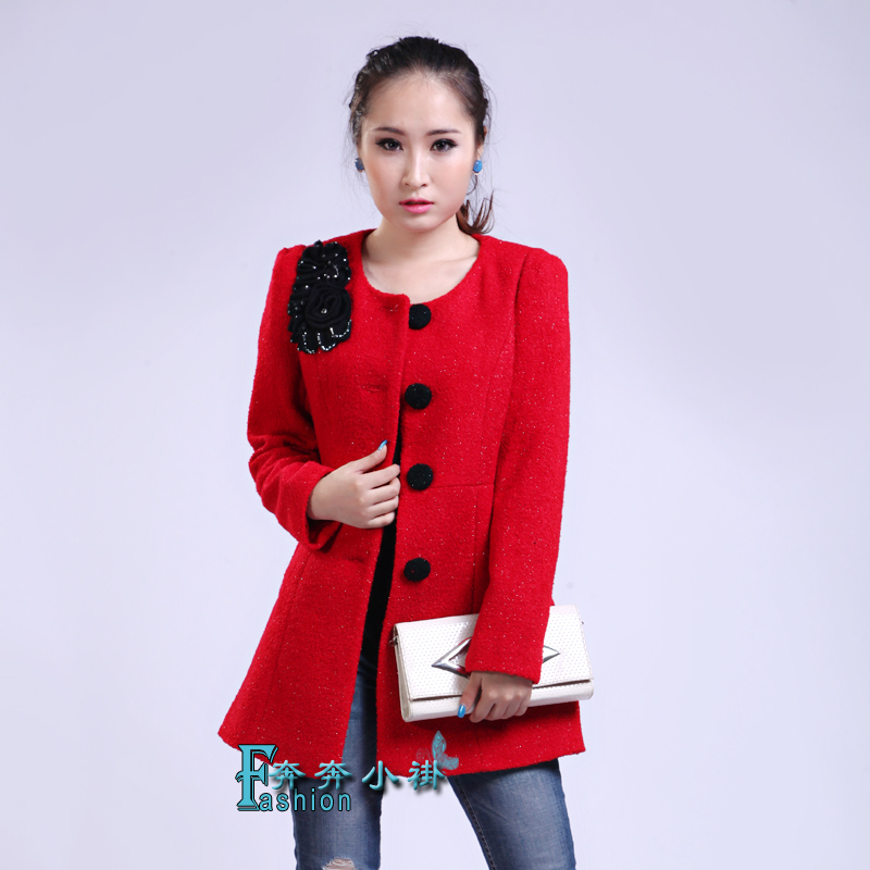 Блузка в китайском национальном стиле Подлинное счетчики осень/зима 2013 новый снег девушка 13911 длинной шерсти пальто