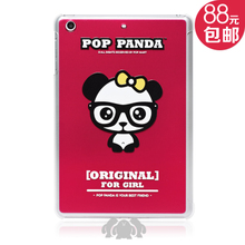 The new ipod mini panda series admini2 protective sleeve lovely cartoon panda ultra-thin plastic wave sets