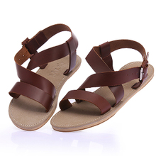 Summer new Korean version of casual leather men's leather sandals beach sandals fashion sandals Roman sandals Vietnam
