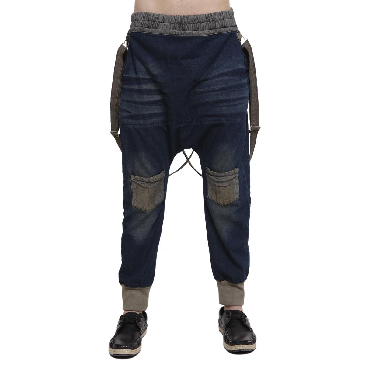 破边牛仔裤男
