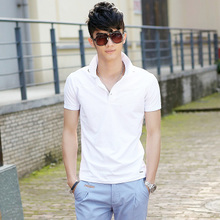 2013 new summer personality influx of men cotton polo shirt lapel short-sleeved shirt POLO Men's Slim