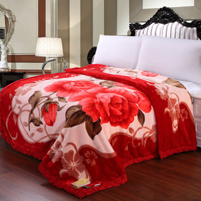 Raschel blanket flannel blanket double thick winter blanket coral fleece blanket thicker blanket single child