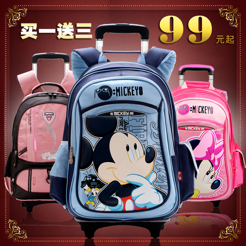 Authentic Disney Barbie children's trolley bag 2013 schoolchildren sent men and women bag rain cover