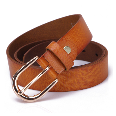 Leather pure leather ladies leather belt female Korean fashion casual and simple wild belt belt female retro wide female models
