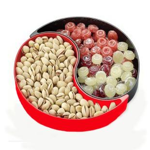 韩式糖果盘 大号 韩式糖果盒 创意八卦水果盘 婚庆喜糖盘 防滑果